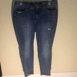 Vintage America Blues Boho Capri Jeans